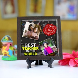 Personalized Photo Tiles with Frame for Teachers 08