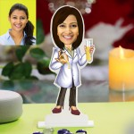 Chemist lady caricature Photo Stand In