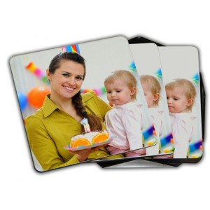 Personalized Coaster 4 pcs backview