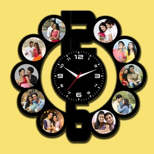 Wooden printed Dial design with clock collage frame