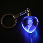 Crystal Keychain Heart Shape with color changing Light