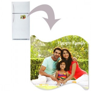 Curve shaped personalized fridge magnet