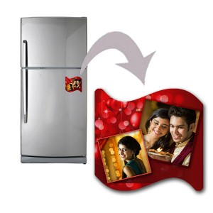 Curve shaped personalized love design fridge magnet 2