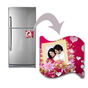 Curve shaped personalized love design fridge magnet