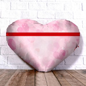 Personalized Heart Shape Cushion with Eternal love Design  backview