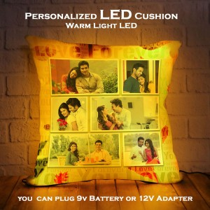 Personalized LED Cushion with Collage Design backview