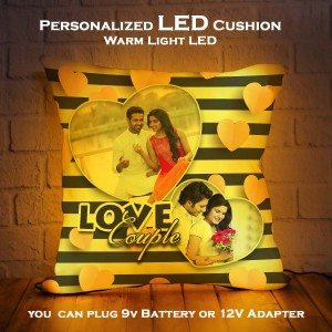 Personalized LED Cushion with True Couple Design backview