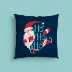 Decorative Christmas Santa Ho Ho Ho Design Satin Cushion
