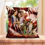 Personalized Chocolate couple cushion design