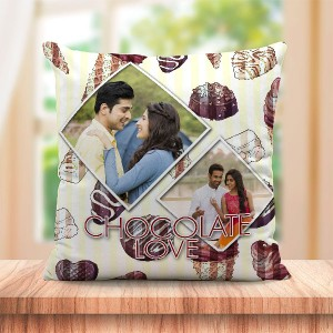 Personalized Chocolate Love  cushion design