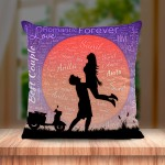 Personalized Couple Name Art Cushion Design Love Couple