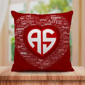 Personalized Couple Name Art Cushion Name Initials Design