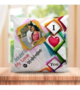 Personalized Cushion For love with Spotify Song QR code 02