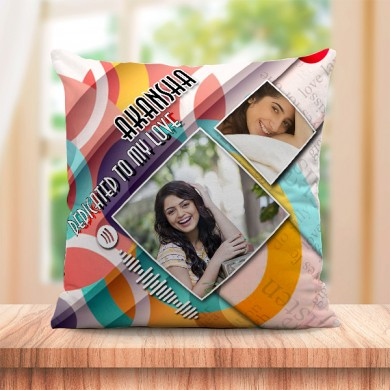Personalized Cushion For love with Spotify Song QR code