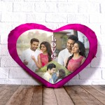 Personalized Heart Shape Cushion Collage Design