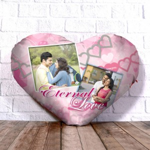 Personalized Heart Shape Cushion with Eternal love Design