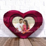 Personalized Heart Shape Cushion with Heart Strip Design
