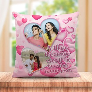 Personalized Hug Heart background design