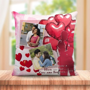 Personalized Hug Heart Balloon design