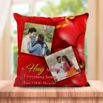 Personalized Hug red heart design
