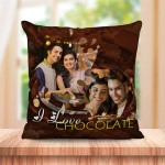 Personalized I love Chocolate cushion design