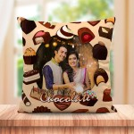 Personalized I love My Chocolate cushion design