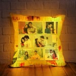 Personalized LED Cushion with Collage Design