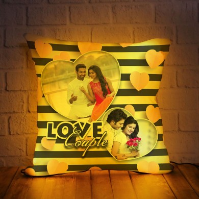 Personalized LED Cushion with True Couple Design