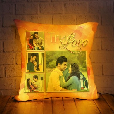 Personalized LED Cushion with True Love Design