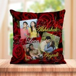 Personalized Red rose Couple cushion design