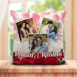 Personalized Rose petals cushion design