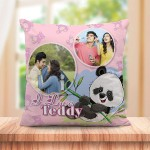 Personalized Teddy Couple cushion design