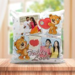 Personalized Teddy Love cushion design