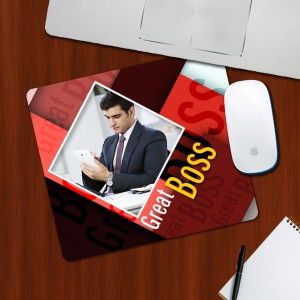Custom Photo on Great Boss Designing mouse Pad