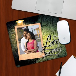 Custom Photo on Love Forever Designing mouse Pad