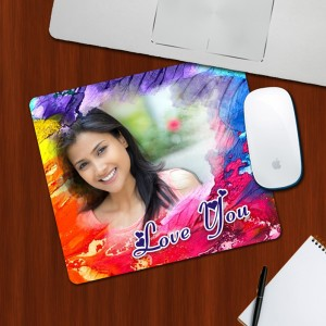 Custom Photo on Love You Designing mouse Pad