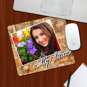 Custom Photo on My Love Designing mouse Pad