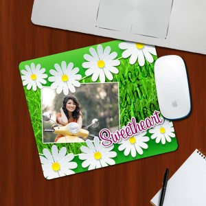 Custom Photo on Sweet Heart Designing mouse Pad