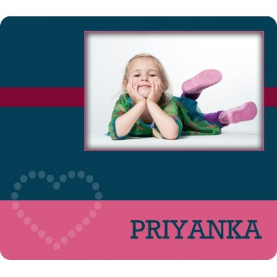 Customized  photo and name on mouse pad