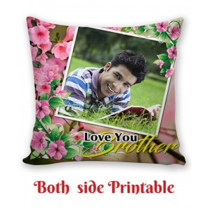 Personalized Cushion both side photo print brother sister gift 01 backview