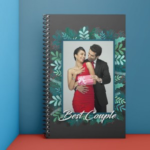 Personalised Notebook Diary printed for best couple