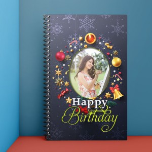 Personalised Notebook Diary printed With Birthday design 02