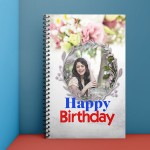 Personalised Notebook Diary printed With Birthday design