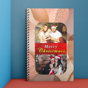 Personalised Notebook Diary printed With Christmas design 02
