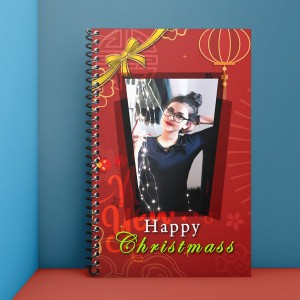 Personalised Notebook Diary printed With Christmas design 03