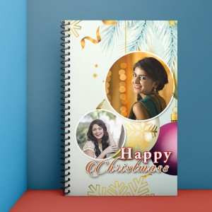 Personalised Notebook Diary printed With Christmas design 04