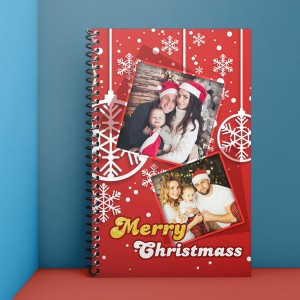 Personalised Notebook Diary printed With Christmas design 05