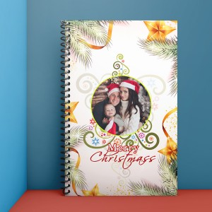 Personalised Notebook Diary printed With Christmas design