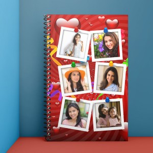Personalised Notebook Diary printed with collage design