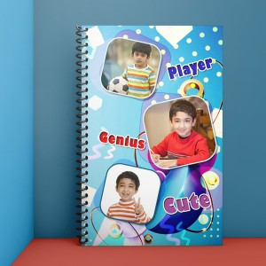 Personalised Notebook Diary printed with kids design